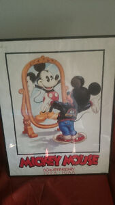Mickey Mouse 60th Anniversary Poster - Poorly Framed