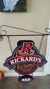 Rickard's Red Hanging Beer Sign