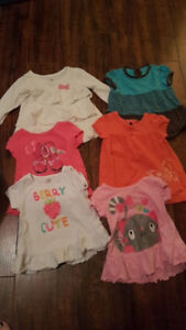 Long shirts 6-12 months Selling as a lot only