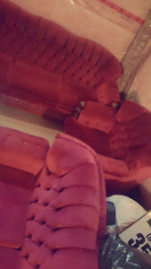 Beautiful Red Velvet Couch NEW