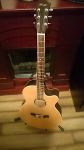 Swagg Acoustic/Electric Cutaway Guitar