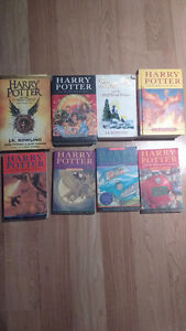 7 harry potter books and new cursed child book