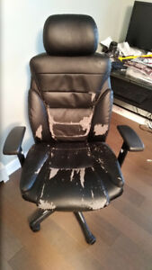 FREE STAPLE DESK CHAIR LEATHER