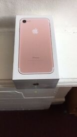 iPhone 7 128gb rose gold on EE