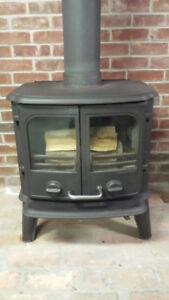 MORSO MODEL 2110 PANTHER CAST IRON WOODSTOVE & CHIMNEY