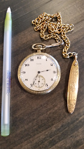 ELGIN POCKET WATCH WITH FOB KNIFE