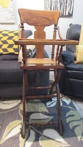 Antique High Chair/Push Cart Kingston Kingston Area image 1