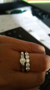 Hearts on Fire diamond engagement ring .46ct, J color vs2