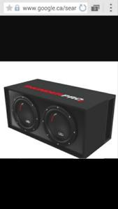 Système de son pour auto! Sub/ampli/radio/capacitor/filages