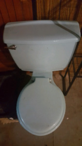 RETRO BABY BLUE TOILET AND MATCHING SINK!