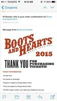 Boots and Hearts 2015 Ticket
