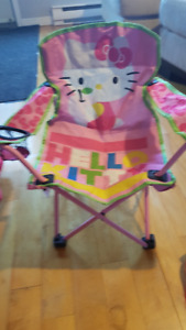 Chaise pliante fille/Folding chair girl Hello Kitty Parapluie