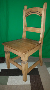 4 x Santa Fe Rusticos Solid Pine Dining Chairs...