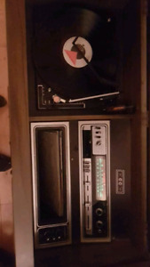 Fleetwoods 1980's record/8track/am/fm cabinet stereo