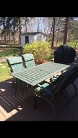 Patio set table chairs