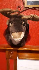 New Rock in reindeer singing wall ornament