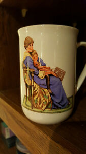 Norman Rockwell Mugs in perfect shape