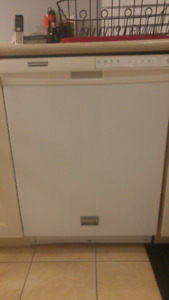 White Frigidaire Gallery dishwasher- very clean