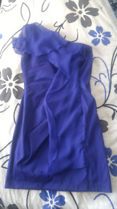 GORGEOUS Off-the-shoulder Purple Formal Dress (Size 6)