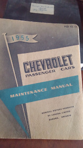 1955 Cheverolet factory manuals