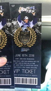 Vip tickets to the sea dogs hall of fame show