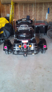 Motorcycle trike attachment