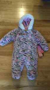 BRAND NEW Faux Fur Snowsuit (3-6 mths)