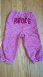12-18 months baby girl roots joggers excellent condition