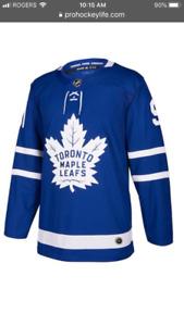 Authentic John Taveres Toronto Maple Leaf Hockey Jersey