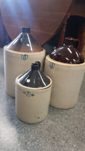 Assorted  Antique Numbered Jugs