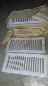15 white 4x10 metal heat register floor vents