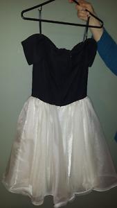Size 8 graduation dress grad formal  Black and white