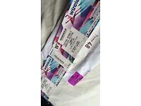 Wireless Tickets Sunday x3
