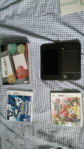 Nintendo 3ds xl black with games