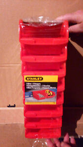 Brand NEW ___  Stanley Storage Bins with Hangers (8-Pack)