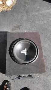 JL AUDIO 15 inch sub with rockford amp