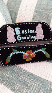 Cree Hand beaded wall/letter holder