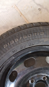 2 snow tires used
