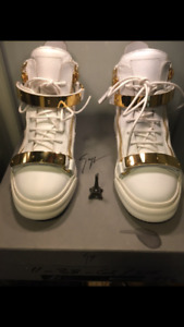 Giuseppe Zanotti London TR Donna White Hightop Sneakers*MINT*