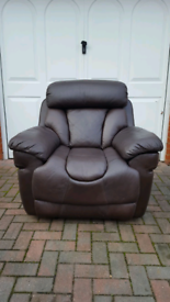 Dark Brown Leather Single Armchair