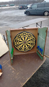 Dart board with enclosed chalk board....... SOLD!! Cornwall Ontario image 1