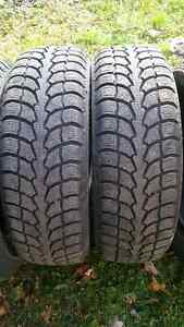 235-70-16 - 4 WINTER CLAW EXTREME GRIP on 5 BOLT RIMS