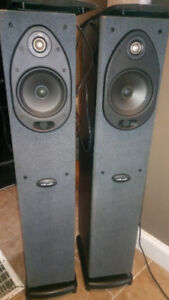 Polk audio rt1000i towers with powered subs
