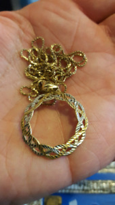 10k gold and white gold chain