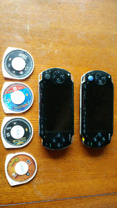 2 PSPs with 4 games. 1 charger