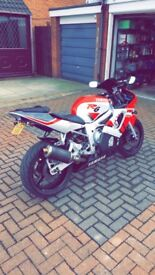 Yamaha yzf r6 2002 12k miles rare white and red