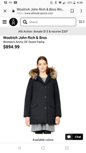 BNWT Woolrich John Rich and Bros Women's Coat - Canada Goose