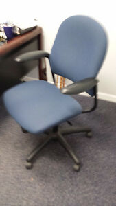 Various office chairs.
