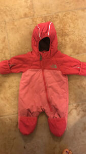 North face 0-3 snow suit