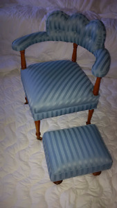 Chair & stool -Antique